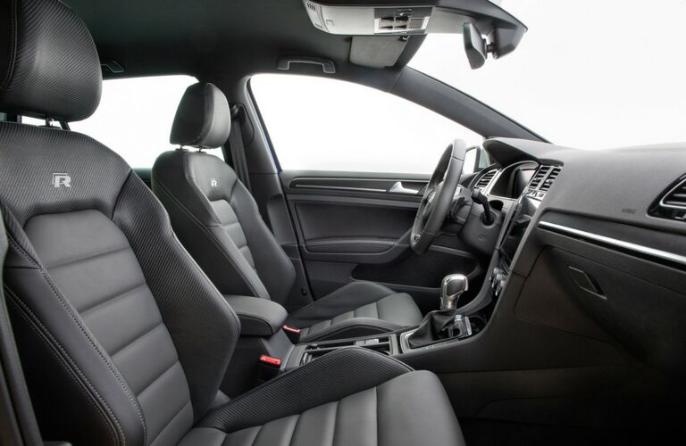 2018 Volkswagen Golf R interior side shot of seating upholstery