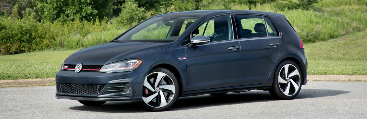 2018 Volkswagen Golf GTI parked in open country road
