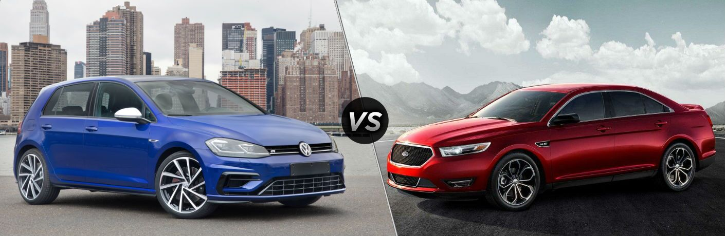 2018 Volkswagen Golf R vs 2018 Ford Taurus SHO
