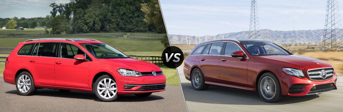 2018 Volkswagen Golf SportWagen vs 2018 Mercedes-Benz E-Class
