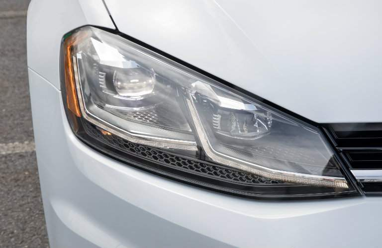 2018 Volkswagen Golf closeup of headlight