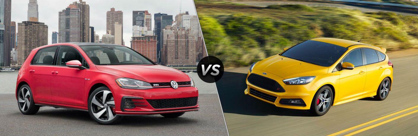 2018 Volkswagen Golf GTI vs 2018 Ford Focus ST