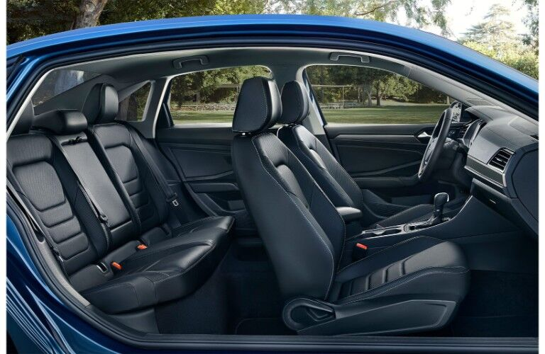 2019 Volkswagen Jetta interior complete view inside frame of 2-row seating, dashboard, and more