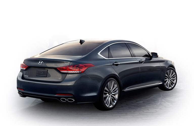 Rear of the 2015 Hyundai Genesis