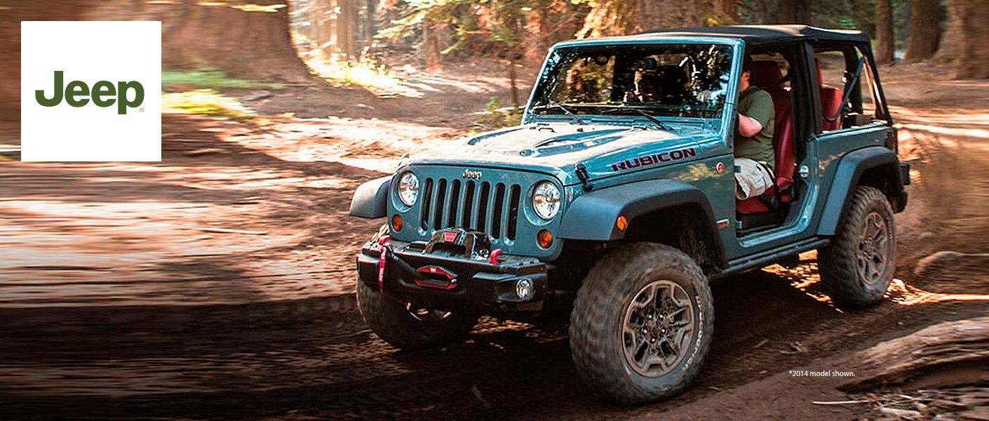 Jeep Wrangler driving off road