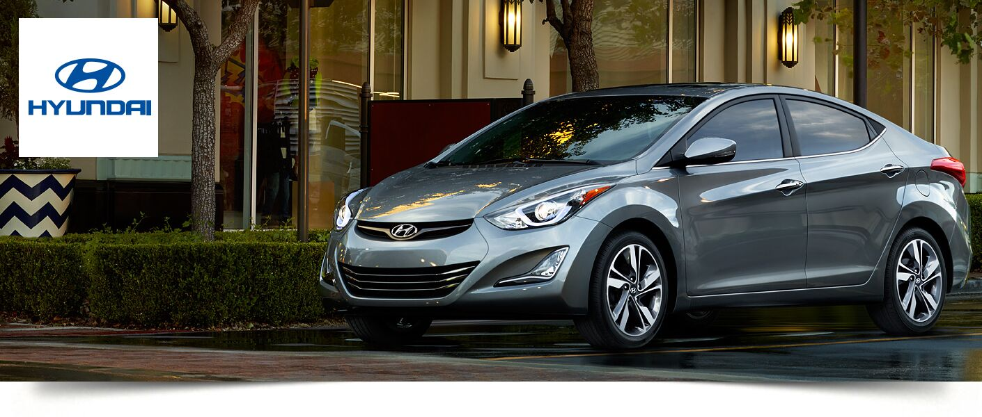 Front of the 2015 Hyundai Elantra