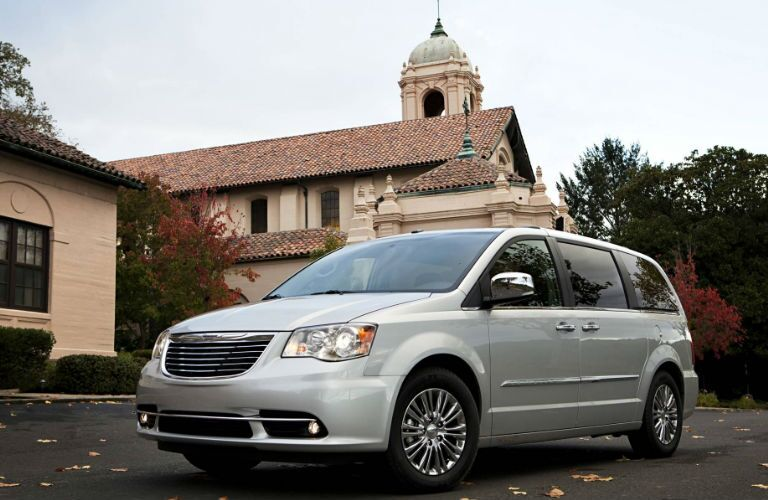 The Chrysler Town & Country minivan can safely transport families.