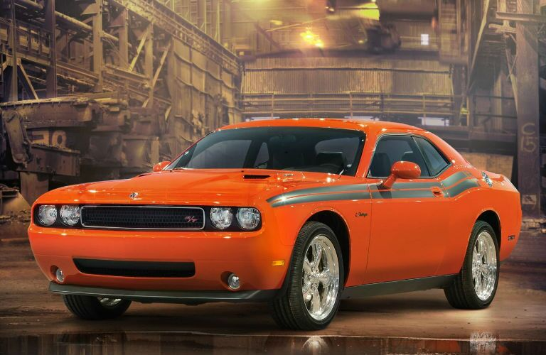 Orange Dodge Challenger