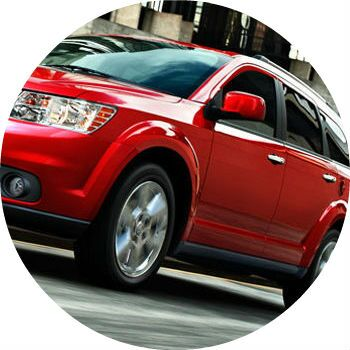 Red Dodge Journey profile