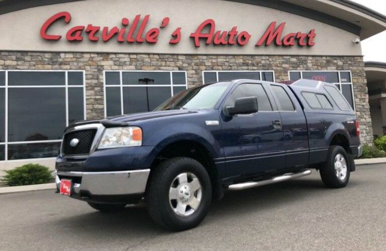 Navy blue 2007 Ford F-150 with cab roof at Carville's Auto Mart
