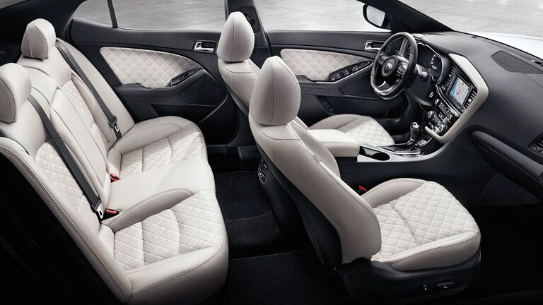 2015 Kia Optima white interior seats
