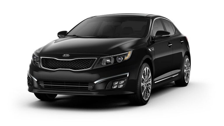 2015 Kia Optima black on a white background