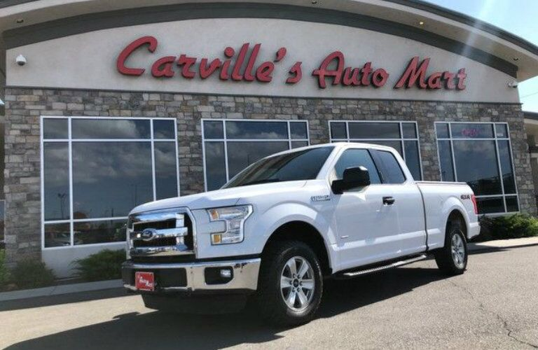 White 2015 Ford F-150 XLT at Carville's Auto Mart