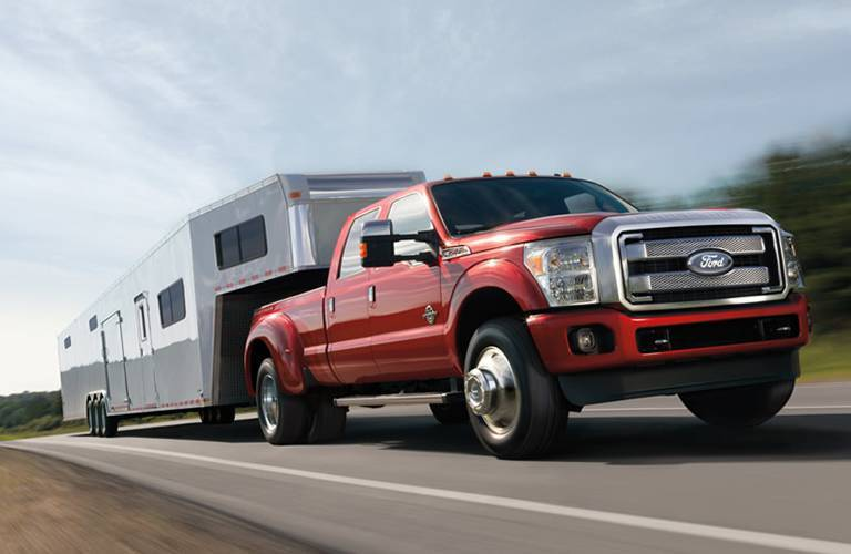2016 Ford F-350 pulling a trailer