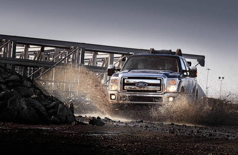 2016 Ford F-350 in the mud