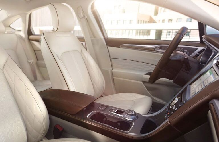 Front seats of the 2017 Ford Fusion
