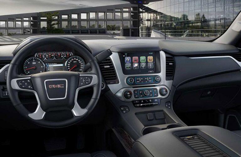 front console of 2017 GMC Yukon