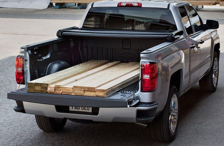 2018 Chevy Silverado 1500 hauling lumber