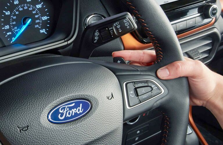 Steering wheel in 2019 Ford EcoSport