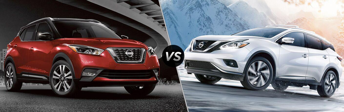 2018 Nissan Kicks vs 2018 Nissan Murano