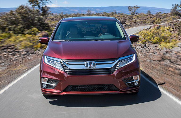 2019 Honda Odyssey driving towards the camera