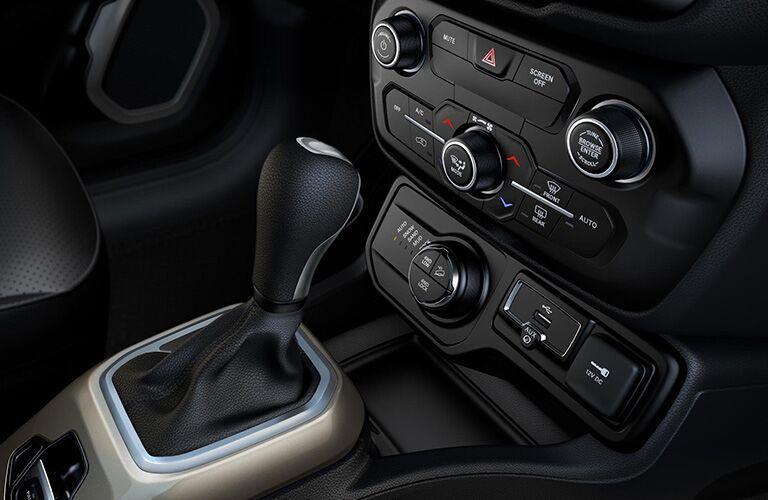 Interior of 2019 Jeep Renegade