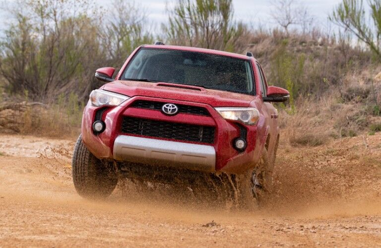 2019 Toyota 4Runner TRD Off-Road driving through mud