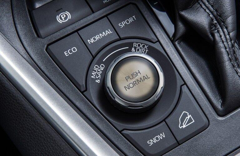 2020 Toyota RAV4 Hybrid drive mode selector