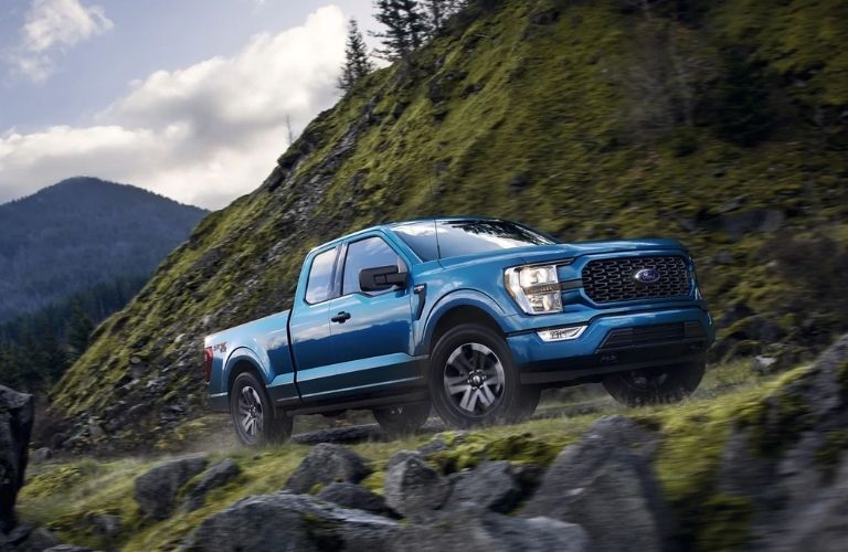 Ford F-150 moving uphill