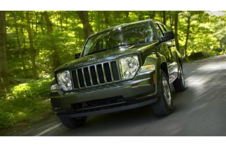 2012 Jeep Liberty on a forest road