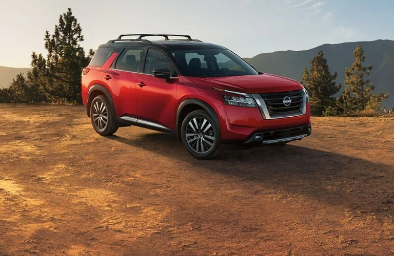 Nissan Pathfinder parked outside