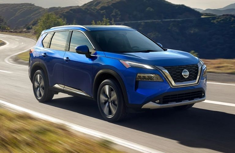 Nissan Rogue on road