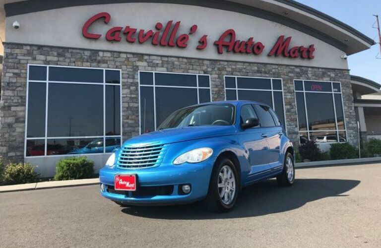 Blue Chrysler PT Cruiser at Carville's Auto Mart