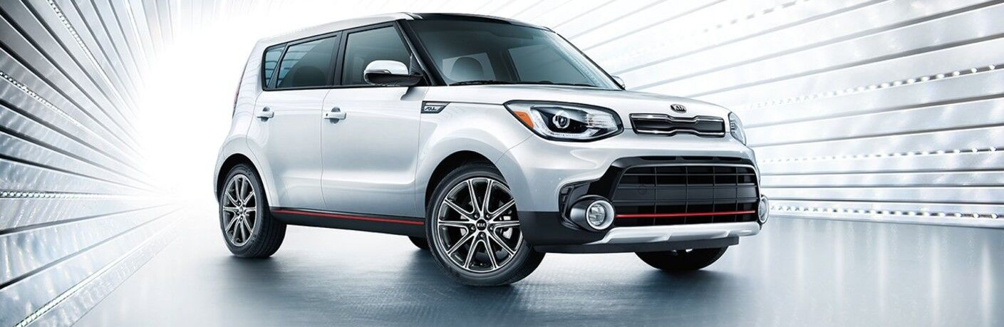 White 2017 Kia Soul positioned on white background