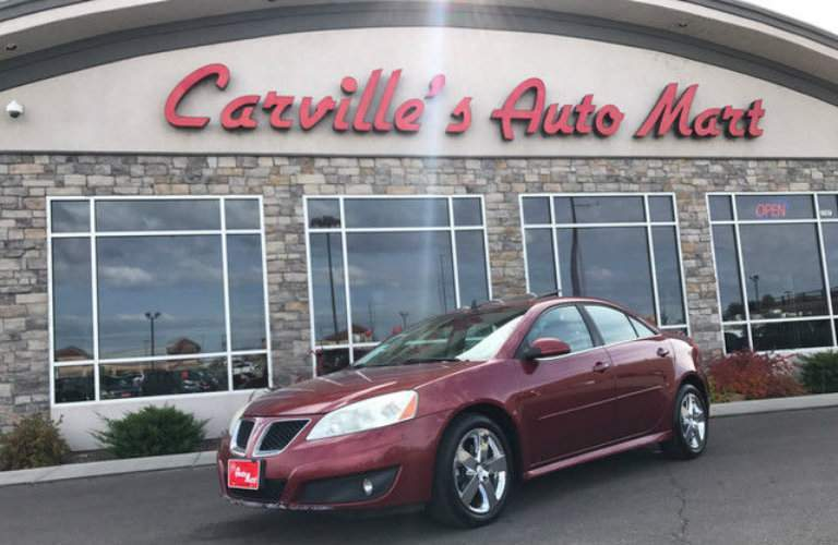 Shot of 2010 Pontiac G6 on display at Carville's Auto Mart