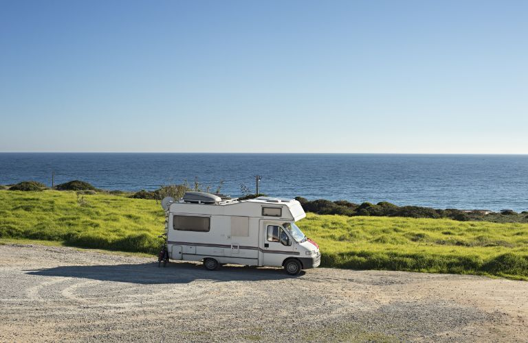 Motorhome out by the ocean