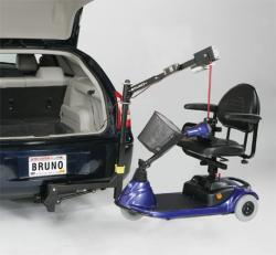 Bruno® Scooter Lifts- Model ASL-350 Offset Space-Saver™ Vehicle Lift