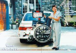 Bruno® Scooter Lifts - Model AWL-1600 Back-Saver™ Vehicle Lift