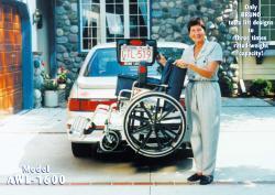 Bruno® Scooter Lifts- Model AWL-1600 Back-Saver™ Vehicle Lift