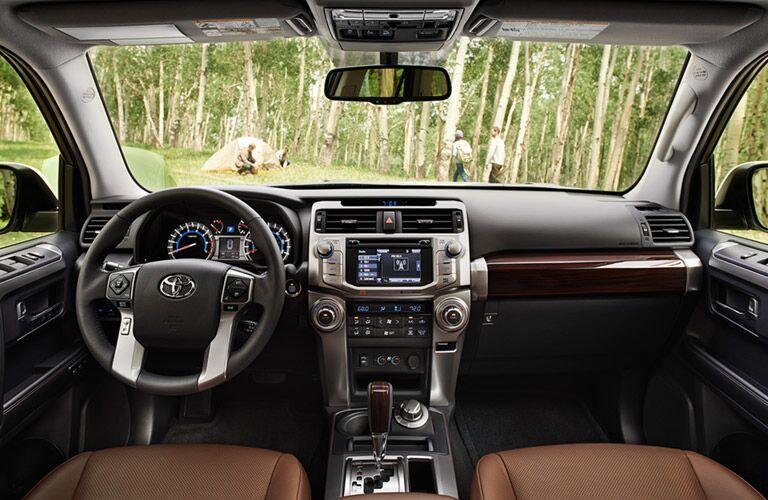 2016 Toyota 4Runner dash and steering wheel