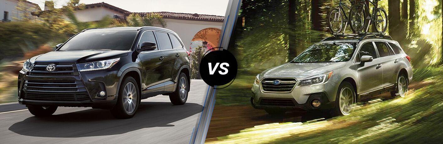 2019 Toyota Highlander vs 2019 Subaru Outback