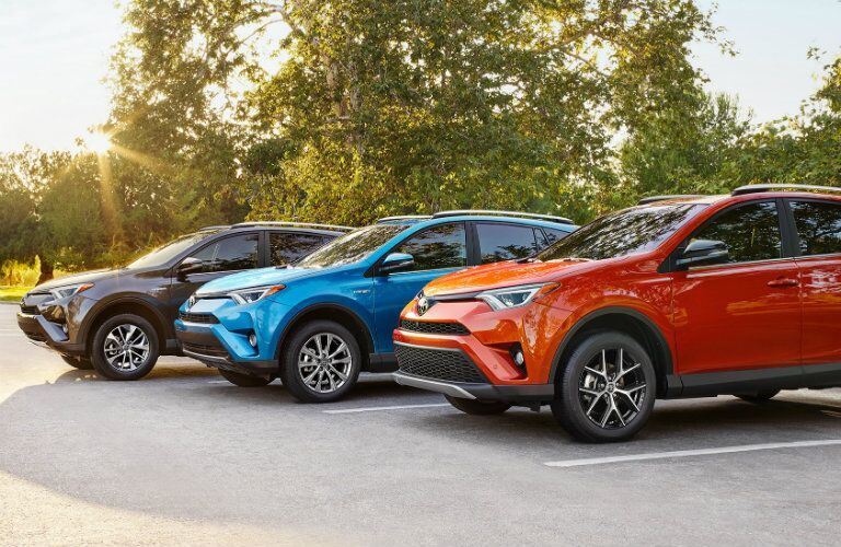 2017 Toyota Rav4 in Parking Lot
