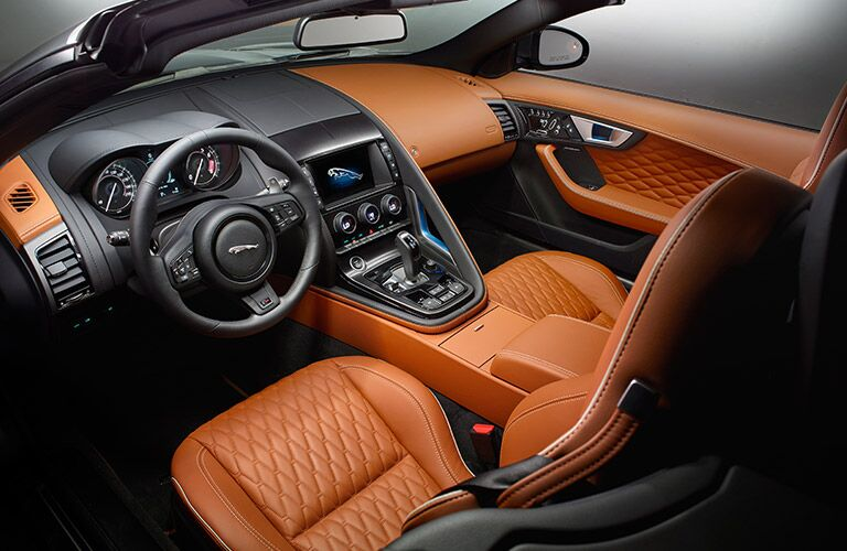Tan 2017 Jaguar F-TYPE Convertible Luxury Interior