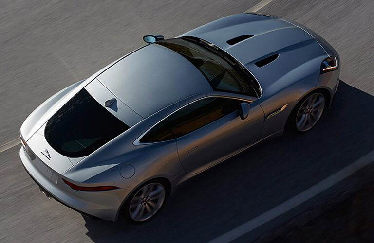 Overhead View of Silver 2017 Jaguar F-TYPE Coupe