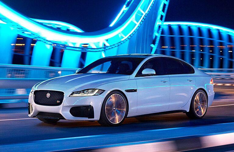 White 2017 Jaguar XE front Exterior