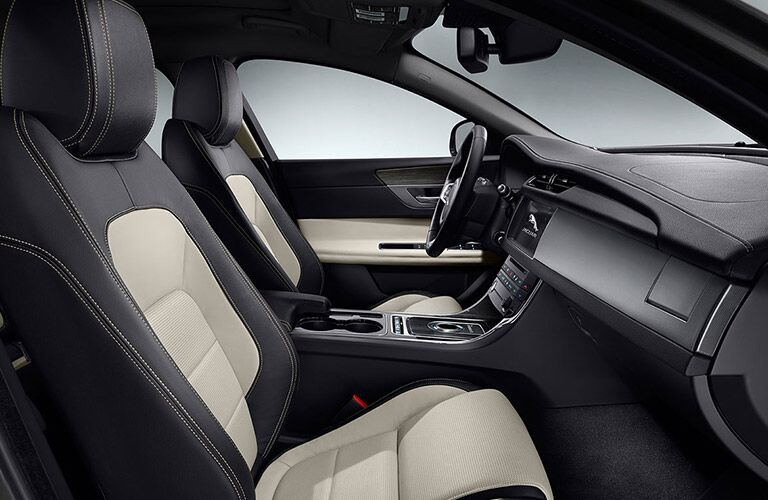 2017 Jaguar XF Front Interior with Touchscreen Display