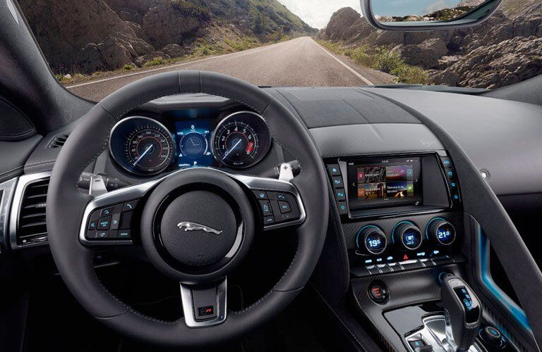 2018 Jaguar F-TYPE Steering Wheel, Touchscreen and Dashboard
