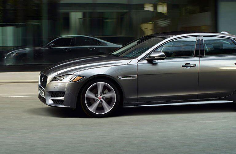 Gray 2018 Jaguar XF Side Profile Exterior