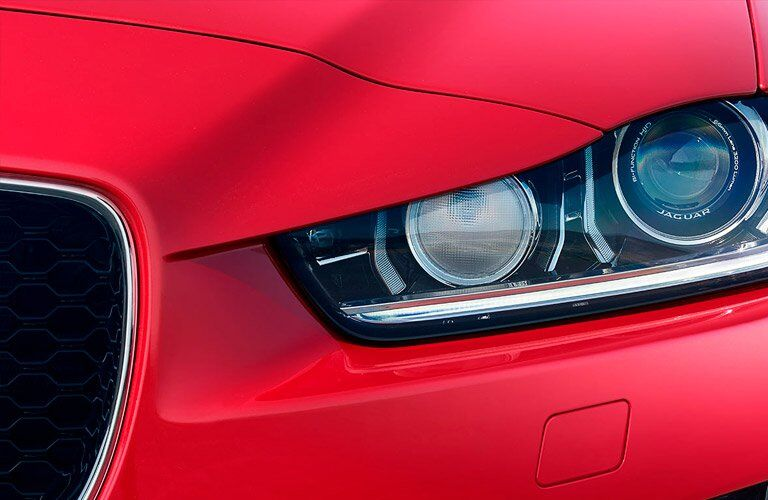 Close Up of 2018 Jaguar XE Headlight