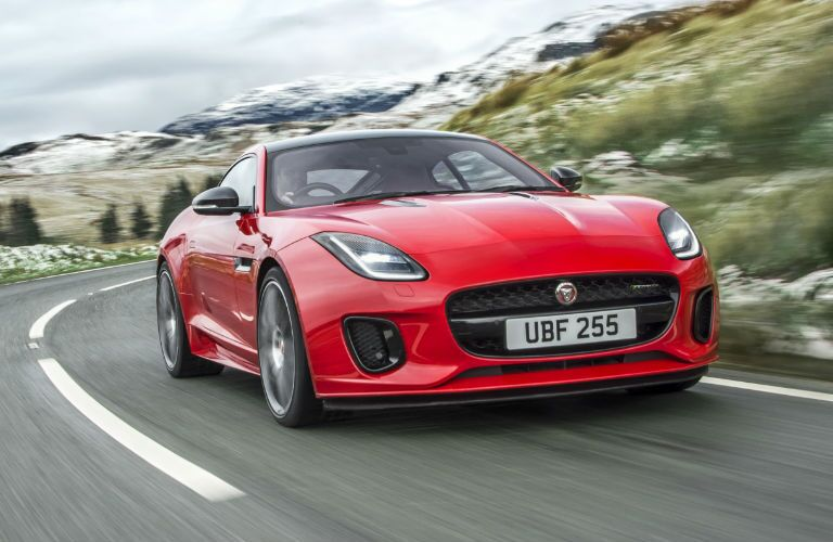 Red 2018 Jaguar F-TYPE Front Exterior on Highway